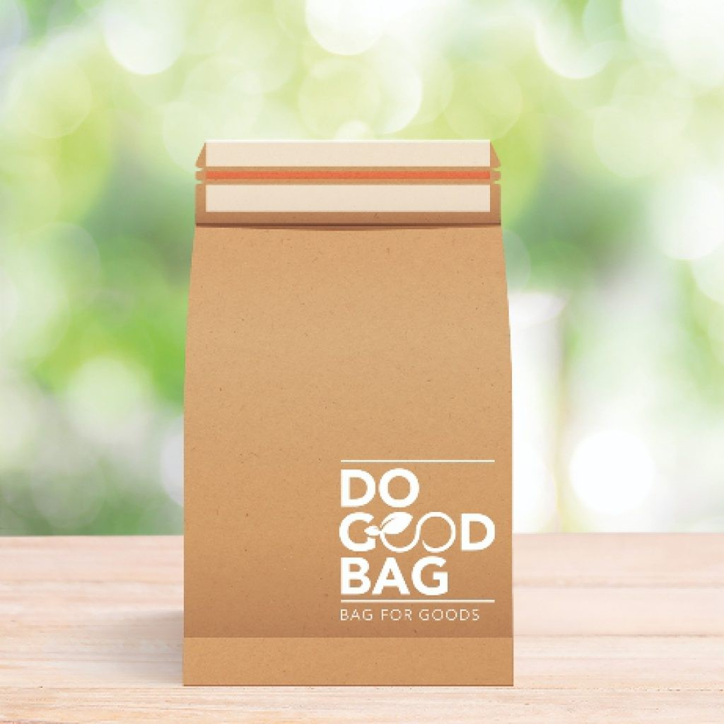 Verzendzak recycled (Do Good Bag) 200x300x50mm met dubbele plakstrip