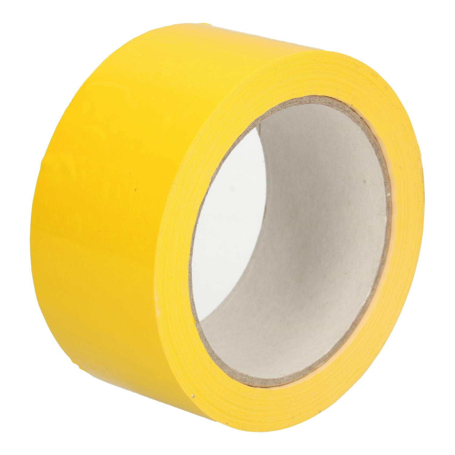 Tape PVC geel 50 mm x 66 mtr