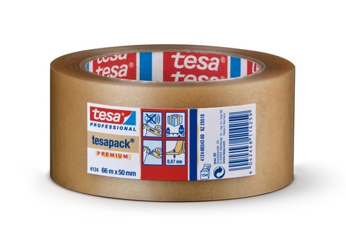 Tesa® tape pvc 4124 transparant 50 mm x 66 m 46 µm